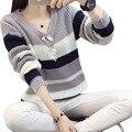 Rihschpiece Осень Полоса Негабаритных Свитера Женщин Пуловеры Зимний Вязаный Свитер Перемычку Моды RZF448