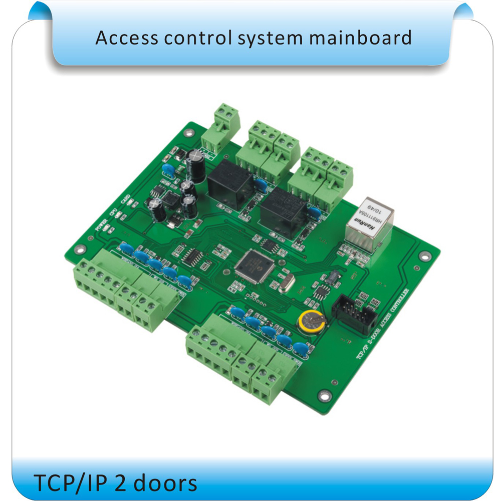 Tcp/ip 2 Doors Rfid Access Control Panel Access Control Board Door Access Control System 2 Reader+10 Crystal Tags Bright And Translucent In Appearance Security & Protection