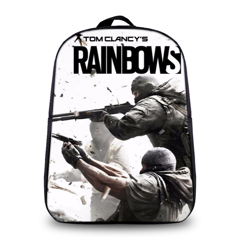 Tom Clancys Rainbow Six Siege Backpacks Adults Online Game Character Mochila Teenagers Travel Bag Children School Backpack