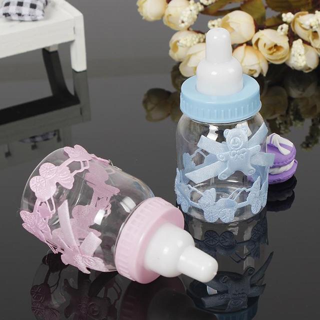 Blue Boy Pink Girl Bottle Baby Shower Favor