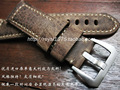 Handmade 24mm strap crazy horse genuine leather strap brown leather Watchband For PAM