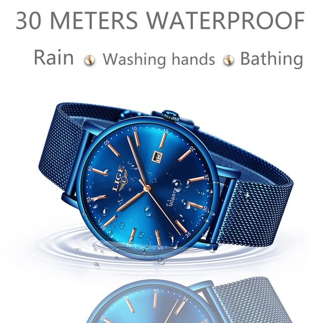 Фото lige мужские часы лучший бренд класса люкс спортивные ультратонкие цена