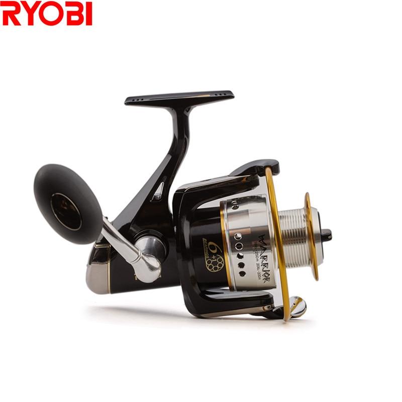 RYOBI 100% Original Japan Warrior(ECUSIMA)Spinning Fishing Reel 6+1BB/5.0:1 Molinete Para Pesca Spinning Reel Moulinet Peche
