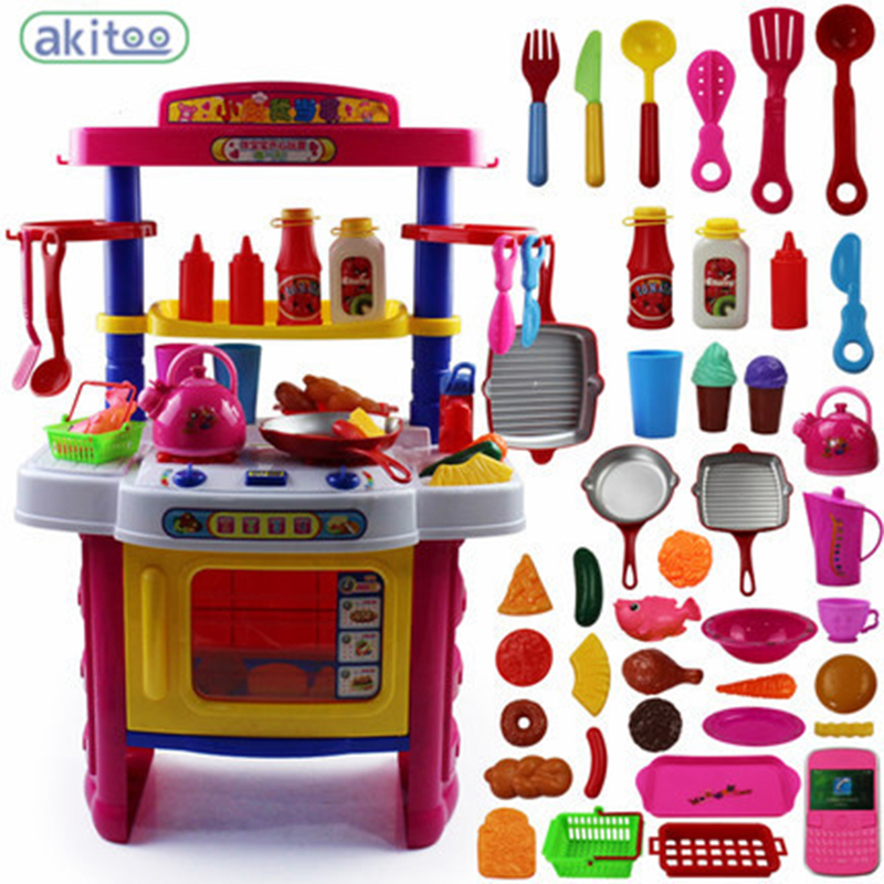 Buy New Arrival 40 Pcs Children Kitchen Set Baby Girl Puzzle Toy Kitchen  Cooking Simulation Kids Kitchen Play Set Kids Vegetables From