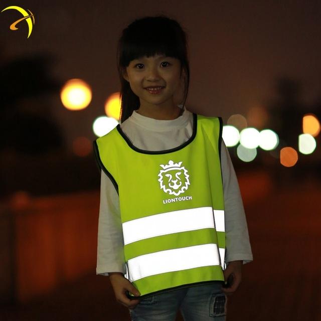 NOVA Chaleco Reflectante de Alta Visibilidade Reflexiva Vest Crianças Roupas de Segurança de Tráfego Neon Cinto de Corrida Esportes Roupa Ao Ar Livre