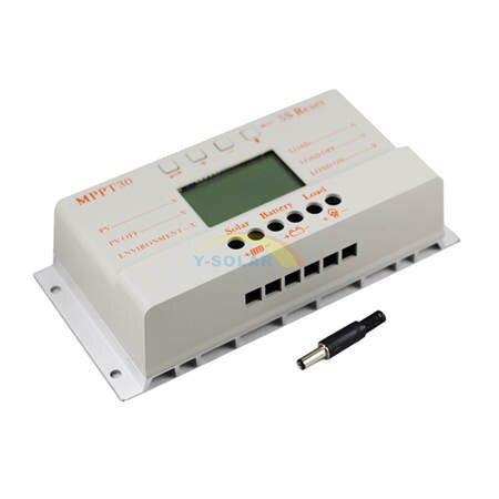 MPPT 30A LCD controlador de carga Solar 12 V 24 V auto interruptor pantalla LCD MPPT30 controlador de carga Solar MPPT 30 controlador de cargador - 3