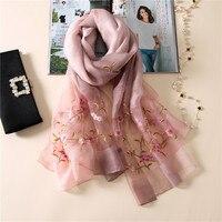Vanledn 2017 Luxury Brand Women Scarf High Quality Silk Scarves Shawls Lady Soft Wool Pashmina Elegant