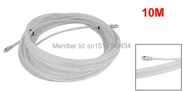 10M 33Ft Electrical Wire Threader Cable Running Rods Kit Fish Tape ...