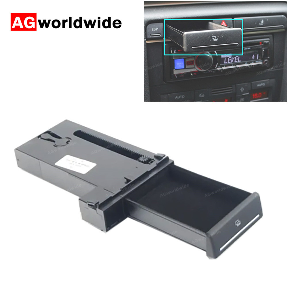 8E1941561C 4PR Automobile Card Slot Storage Box Holder Pop Out Tray Dashborad LHD ONLY For Audi