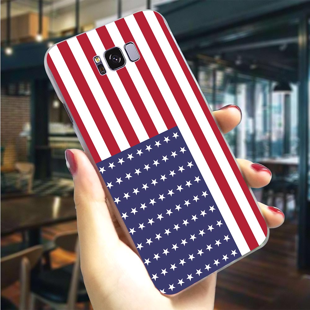 Hard Case for Galaxy A9 2018 United States USA <font><b>Flag</b></font> Cover for <font><b>Samsung</b></font> A3 Cases A5 A6 Plus A7 A8 <font><b>A10</b></font> A20 A30 A40 A50 A70 Back image