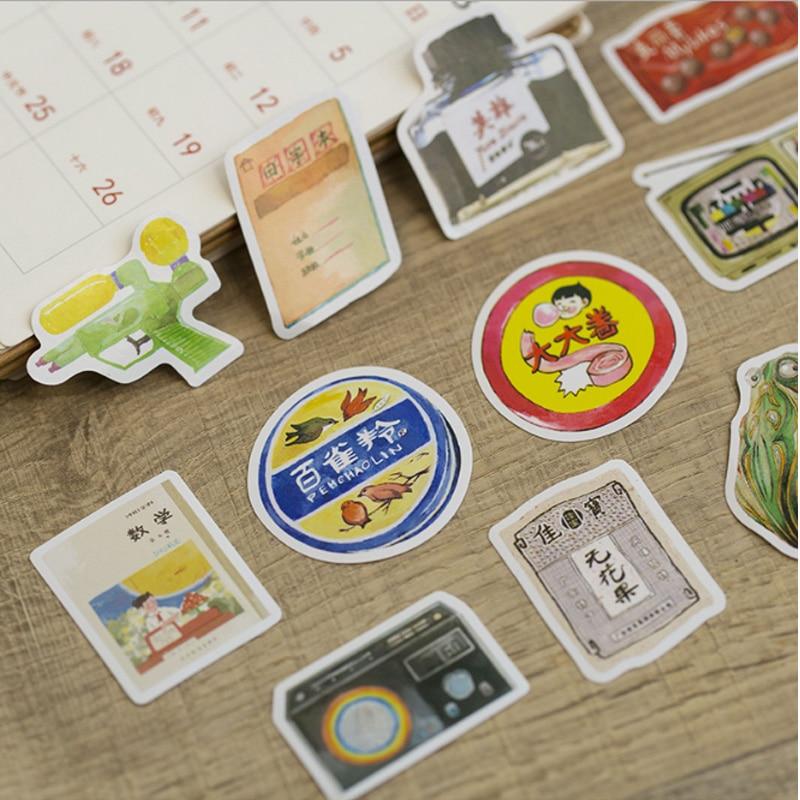 Купить с кэшбэком 50 pcs/lbox  Old time mini paper sticker decoration stickers DIY Notebook Ablum diary scrapbooking label sticker stationery