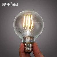 8PCS Edison Bulbs E27 LED Restoring Ancient Ways Of Silk Filament Lamp Article 4W 6W G95