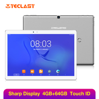 Teclast Master T10 Touch ID 10.1 inch Tablet PC 2560*1600 MT8176 Hexa Core 4GB RAM 64GB ROM Tablets Android 7.0 Quick Charge