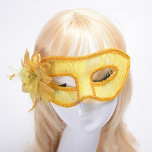 Hot Sale! Women Sexy Lace Masquerade Mask For Halloween Venetian Costumes Carnival, Flower Party