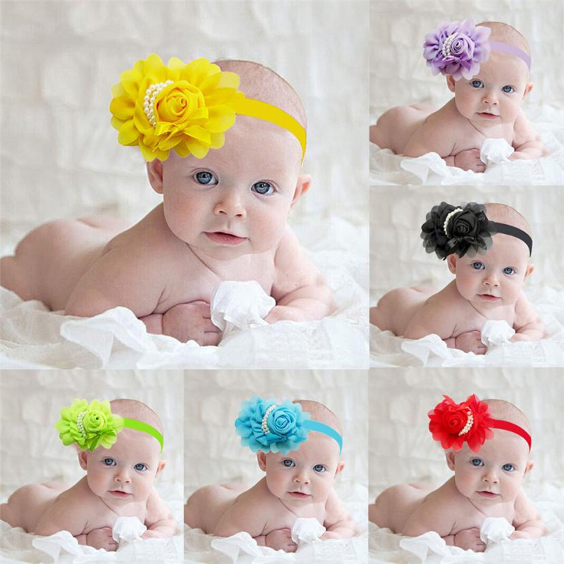 Headband Set Infants Girl Baby Ornate Colorful Foot Flower Barefoot Sandals