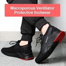 Новинка, 1 пара тяжелых кроссовок, безопасная рабочая обувь, дышащая, противоскользящая, прокалывающая, для мужчин, 19ing