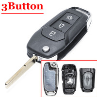 Good quality (1 piece) replacement remote case New 3 Button Flip Key Shell original type case For Ford