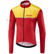 цена на Morvelo 2019 Spring Long Sleeve Cycling Jersey Men Autumn Racing Cycling Clothing Ropa Ciclismo MTB Bike Jersey Maillot Ciclismo