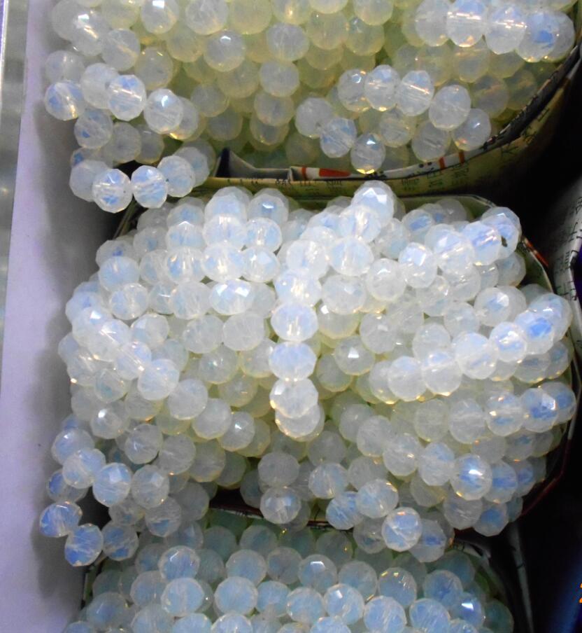 FLTMRH молочно-белый цвет 3*4 мм 145 шт. Rondelle Австрия граненый кристалл стекло бусины Свободные Spacer Круглые бусины для ювелирных изделий Мак
