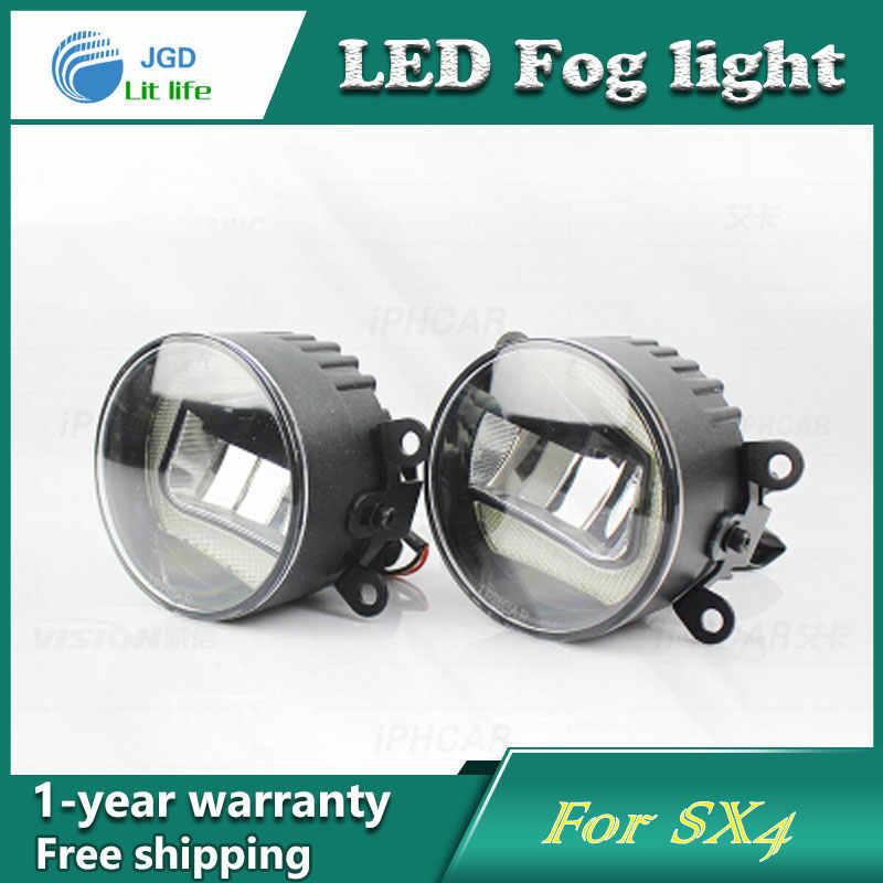 Super Wit Led-dagrijverlichting case Voor Suzuki SX4 Drl Lichtbalk Parking Auto Mistlampen 12 V DC Hoofd Lamp