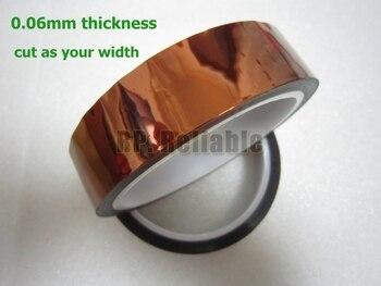 Envío Gratis, cinta adhesiva de alta temperatura de película de poliamida resistente al calor de 1x 17mm * 33M * 0,06mm, aislamiento eléctrico para PCB