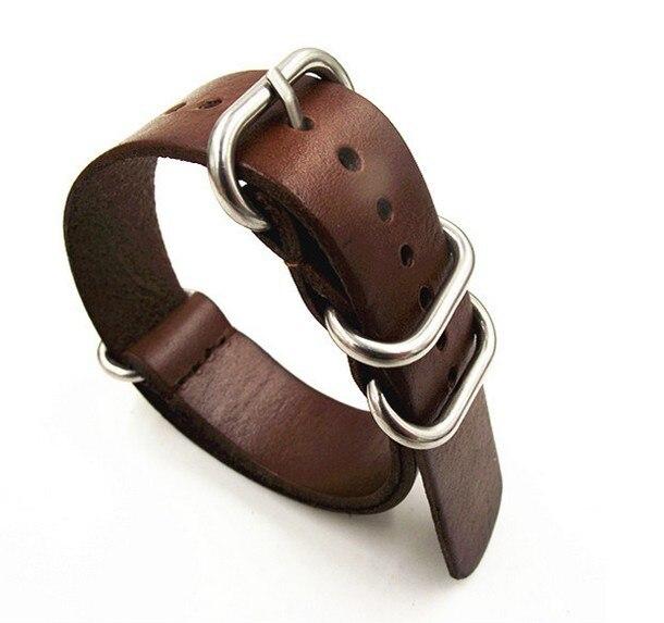 1 Pz 18 Mm 20 Mm 22 Mm 24 Mm Nato Cinturino Nato Cinghie Cinturino In Vera Pelle