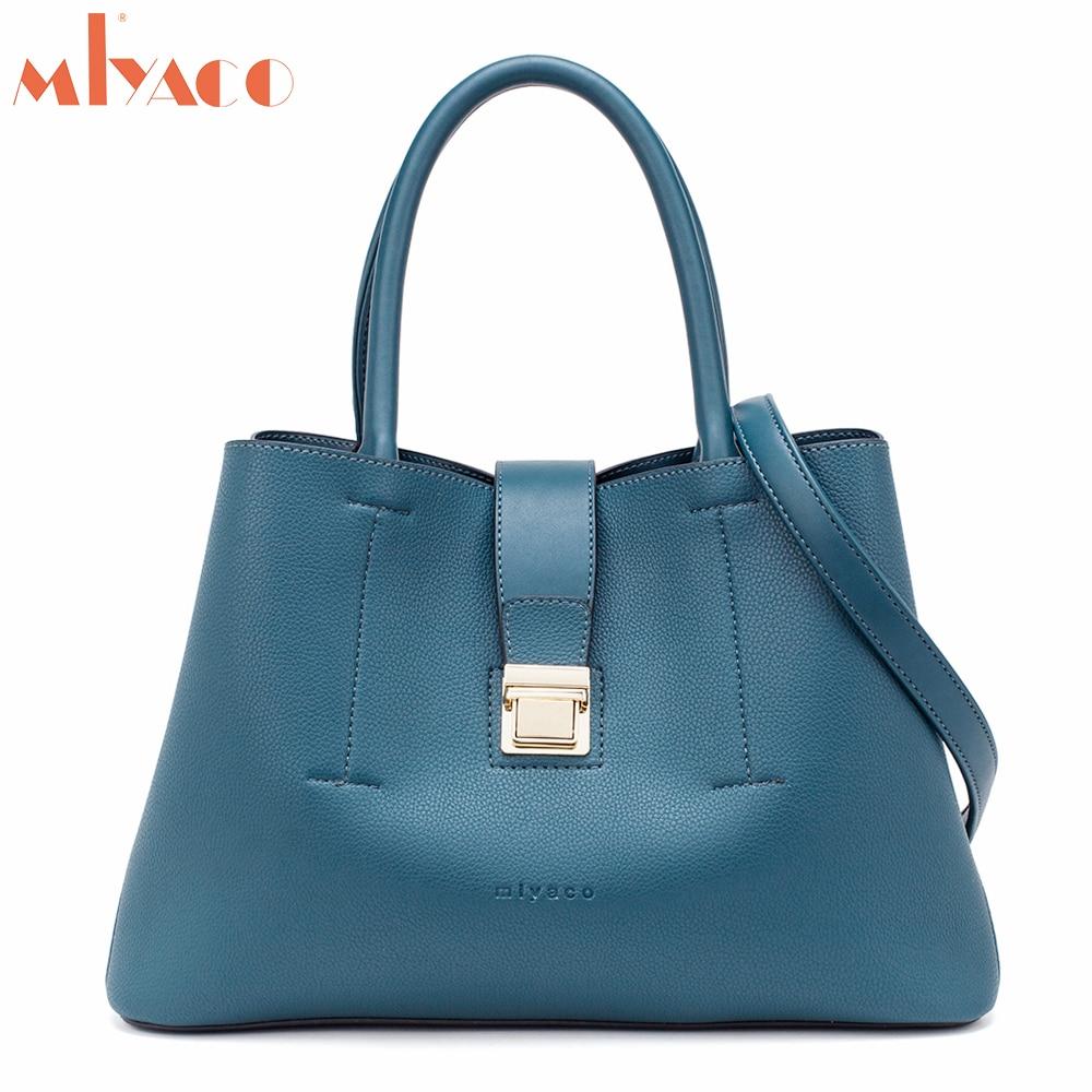 Miyaco Women Leather Handbag Casual Tote Crossbody Bags Stylish Ladies Hand Bags Designer Handbags High Quality