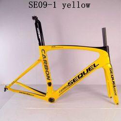 ¡OFERTA 2019! Cuadro de bicicleta de carretera de carbono completo T1000 grava cuadro de bicicleta