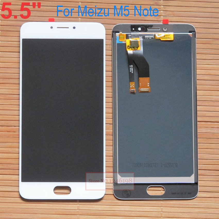 TOP Quality 5.5 LCD Display+Touch Screen Digitizer Assembly For Meizu M5 Note / Meilan Note 5 Note5 parts