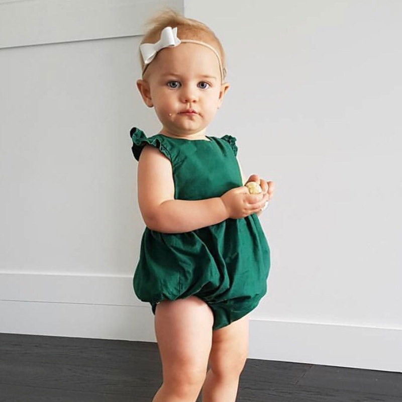 2017 High quality Fashion baby girls clothes summer baby rompers newborn clothes cute Lace sleeves baby boy girl clothing set