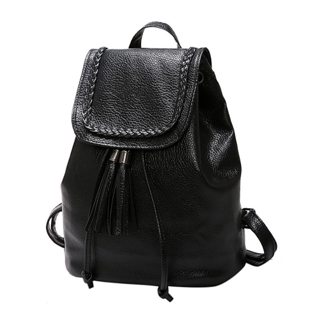 Women PU Leather Backpack Vintage College Student School Bags For Teenager Girls Vintage Mochila Casual Rucksack Daypack