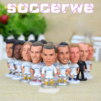 14PCS Display Box Soccer Real Madrid Player Star Figurine 2 5 Action Doll Classic Version The