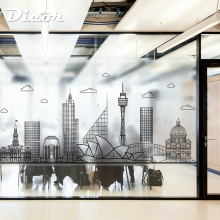 DICOR Modern Fashion Stained Glass Sticker Frosted Opaque Vinyl Window Decorative Film Architectural Art BLT1499KJ-DZMJ