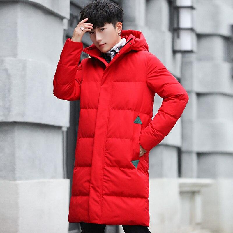 Fashion Color Winter Men's Hooded   Parkas   Windproof Long Section Men's   Parkas   Coats Keep Warm Comfortable Men's   Parkas   Coats