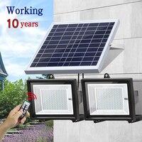 30 60 80 100 светодиоды Солнечный свет двойной источник света водонепроницаемый открытый дистанционного управления яркий дорога стены ip65 лампы