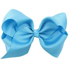 HOT SALE 1 PC Sweet Children's Butterfly Knot Hair Clip (Blue)(China)