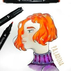 Image 5 - Touchfive ensemble de marqueurs à lencre à base dalcool, 30/40/60/80/168 couleurs, marqueur de dessin à double brosse, stylo, Manga, étudiant, fournitures artistiques