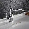 Gran oferta, grifo de lavabo cromado, grúa giratoria, grifo de cuarto de baño europeo, grifo mezclador de agua caliente y fría, accesorios de baño, grifos de agua