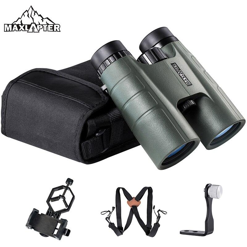 Охотничий бинокль телескоп 10x42 для концертного туризма легкий вес Jumelles портативный BAK4 Prism Оптический для взрослых детей MAXLAPTER