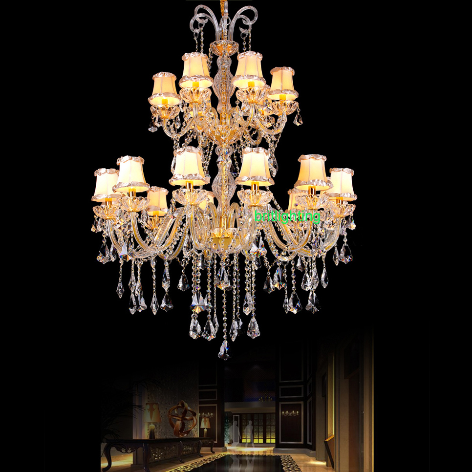 Chandeliers Modern Luxury Led Crystal Chandelier Hotel Lobby High Quality Ceiling Lighting Living Room