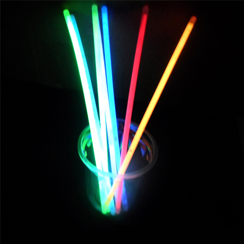Us 9 88 23 Off 100pcs Premium Glow Sticks Bracelets Neon Light Glowing Party Favors Rally Raves Lighting Stick Variety Of Color Random Mix In