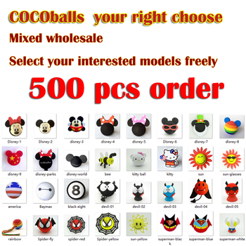 cocoballs 500pcs Car Antenna ball Decoration Cute Cartoon Foam Balls Exterior Bolinha  de carro Topper