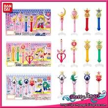 PrettyAngel orijinal Bandai Sailor Moon kristal 20th yıldönümü Gashapon Sailor Moon değnek Charm Henshin çubuk ve çubuk