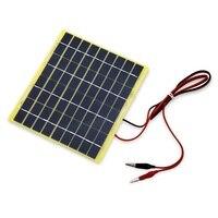HOT SALE 5W 18V Solar Panel Solar Cell Crocodile Clip For 12 Volt Garden Fountain Pond