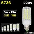 5736 Лампада СВЕТОДИОДНАЯ Лампа 220 В Кукурузы Света Светодиодные Лампы E14 Свеча Прожектор Ампуле LED E27 Люстра Lamparas Bombillas 3 Вт 15 Вт