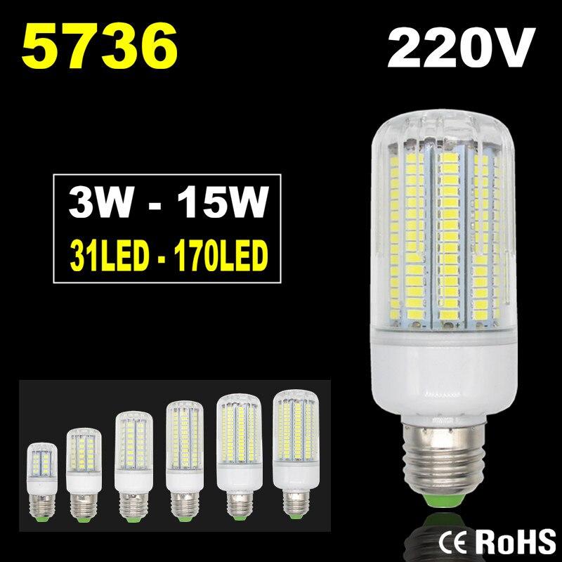 5736 Lampada LED Lamp 220V Corn Light Spot LED Bulb E14 Candle Spotlight Ampoule LED E27     -> Lampada Spot Led
