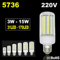 5736 Lampada LED Lamp 220V Corn Light Spot LED Bulb E14 Candle Spotlight Ampoule LED E27 Lamparas Chandelier Bombillas 3W 15W