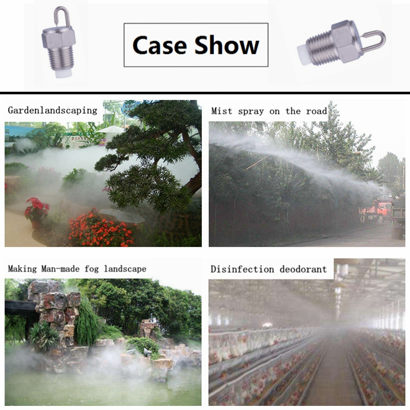 Sprayers 1/8 Bspt Stainless Steel Micro Fog Nozzle With Polypropylene Filter,garden Sprinklers,ruby Orifice Super Fine Fog Misting Nozzle Cheapest Price From Our Site Garden Supplies