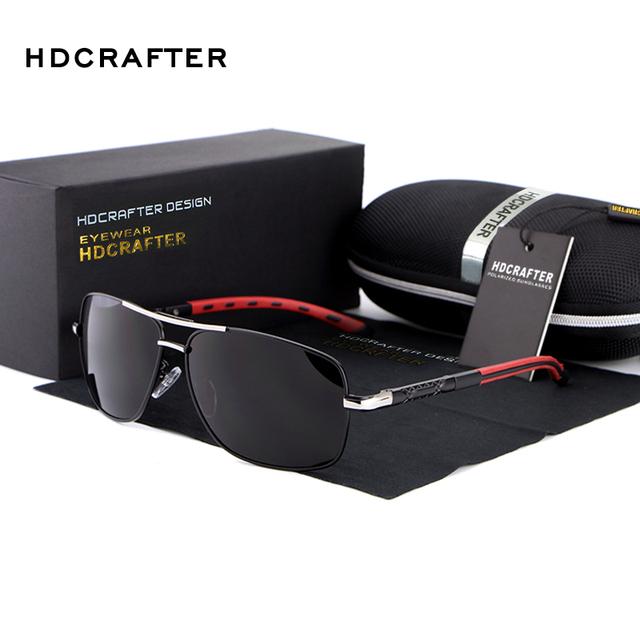 HDCRAFTER Marca dos homens Polarizados óculos de Sol gafas UV400 Polarizada Óculos De Sol Das Mulheres Grande Quadro Óculos De Sol Lazer Universal E012-3