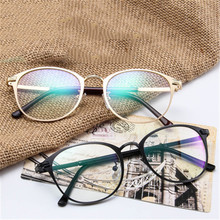 Clear Lens Optical Glasses Frame Women Transparent Myopia Eyeglasses Men Vintage Metal Legs Spectacles Frames
